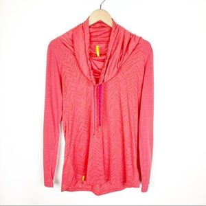 Lole Hoodie Pullover Red Orange Active Shirt Large